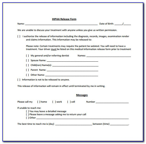Dbh Hipaa Privacy Forms 1 And 3 Spanish Version Dmh