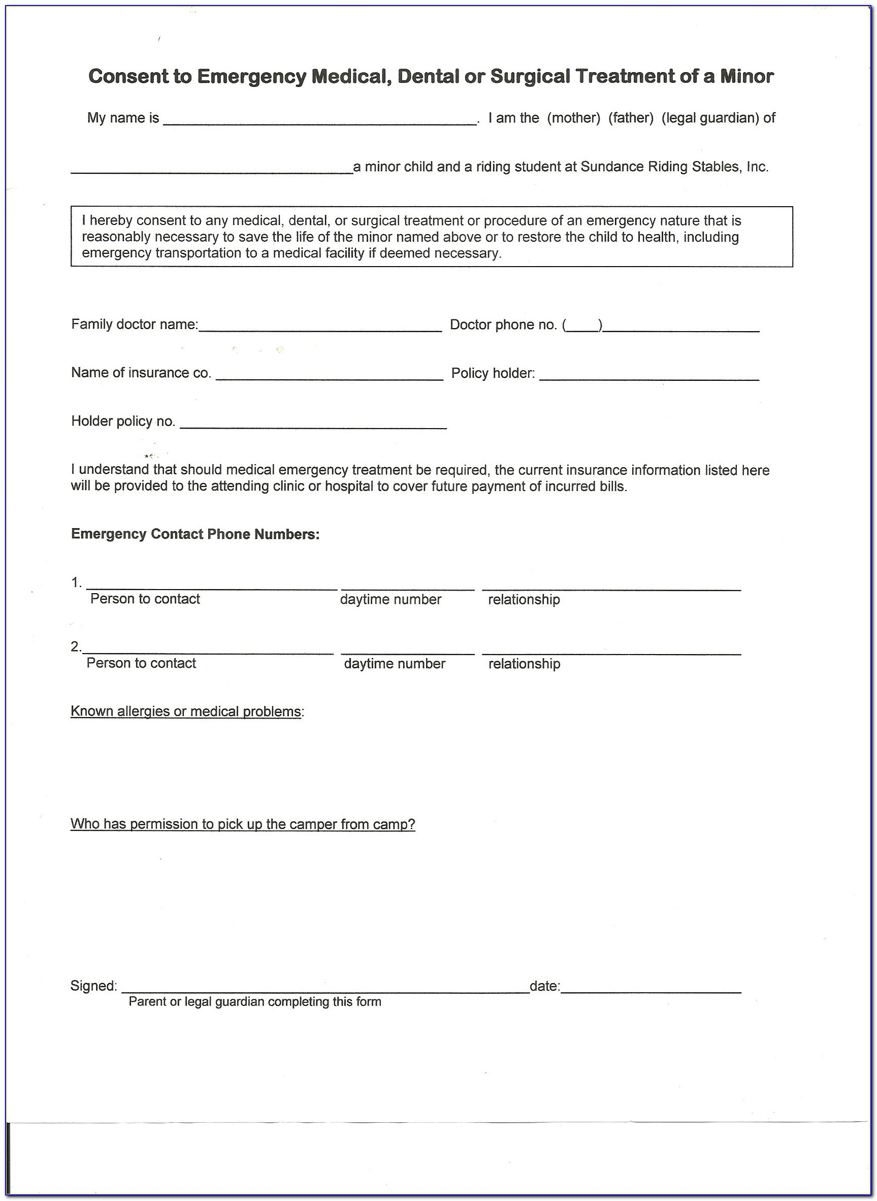 Horse Boarding Liability Waiver Form