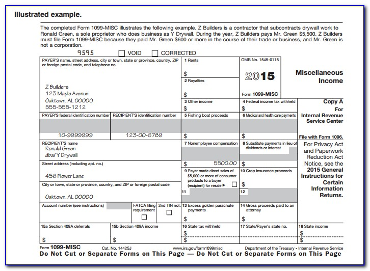 How To File Form 1099 Misc With Irs