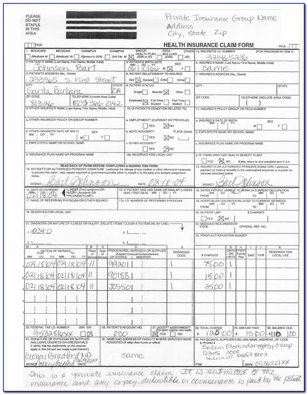 How To Fill Out Cms 1500 Form For Medicare