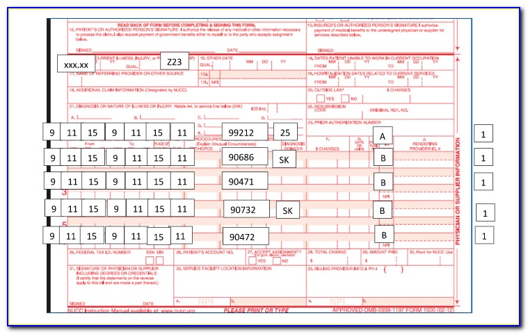 How To Fill Out Cms 1500 Form