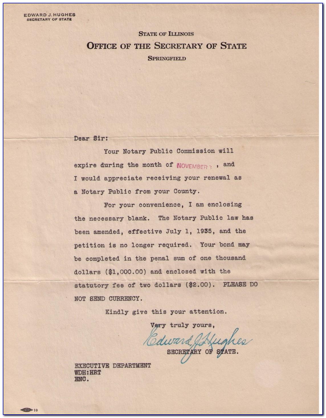 Illinois Notary Renewal Form