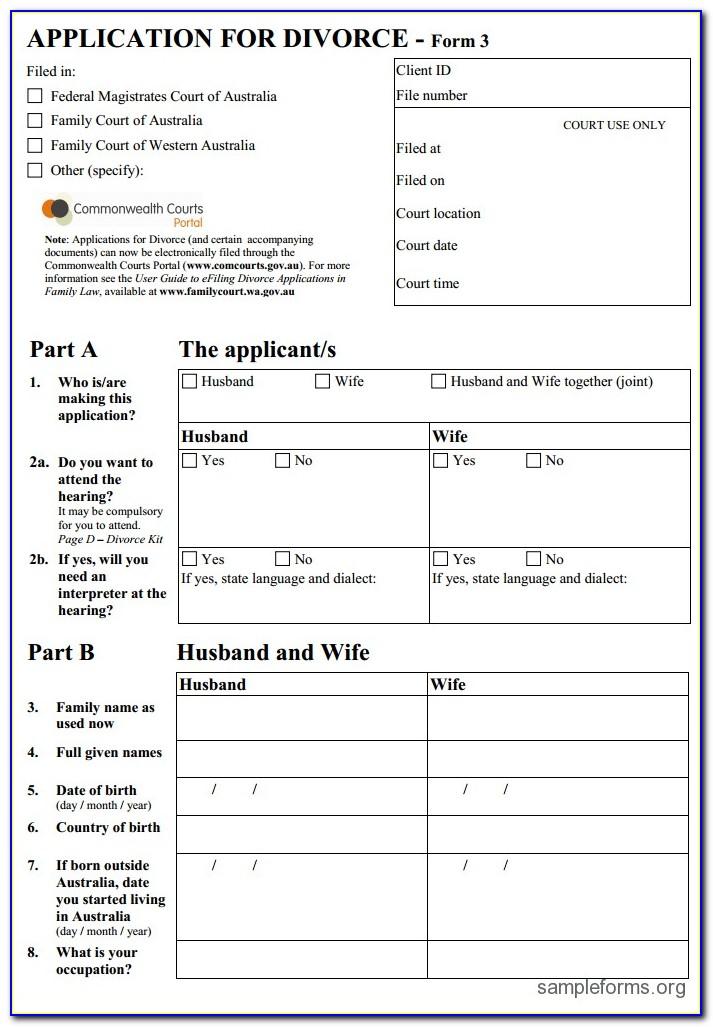 Indian Muslim Divorce Application Form