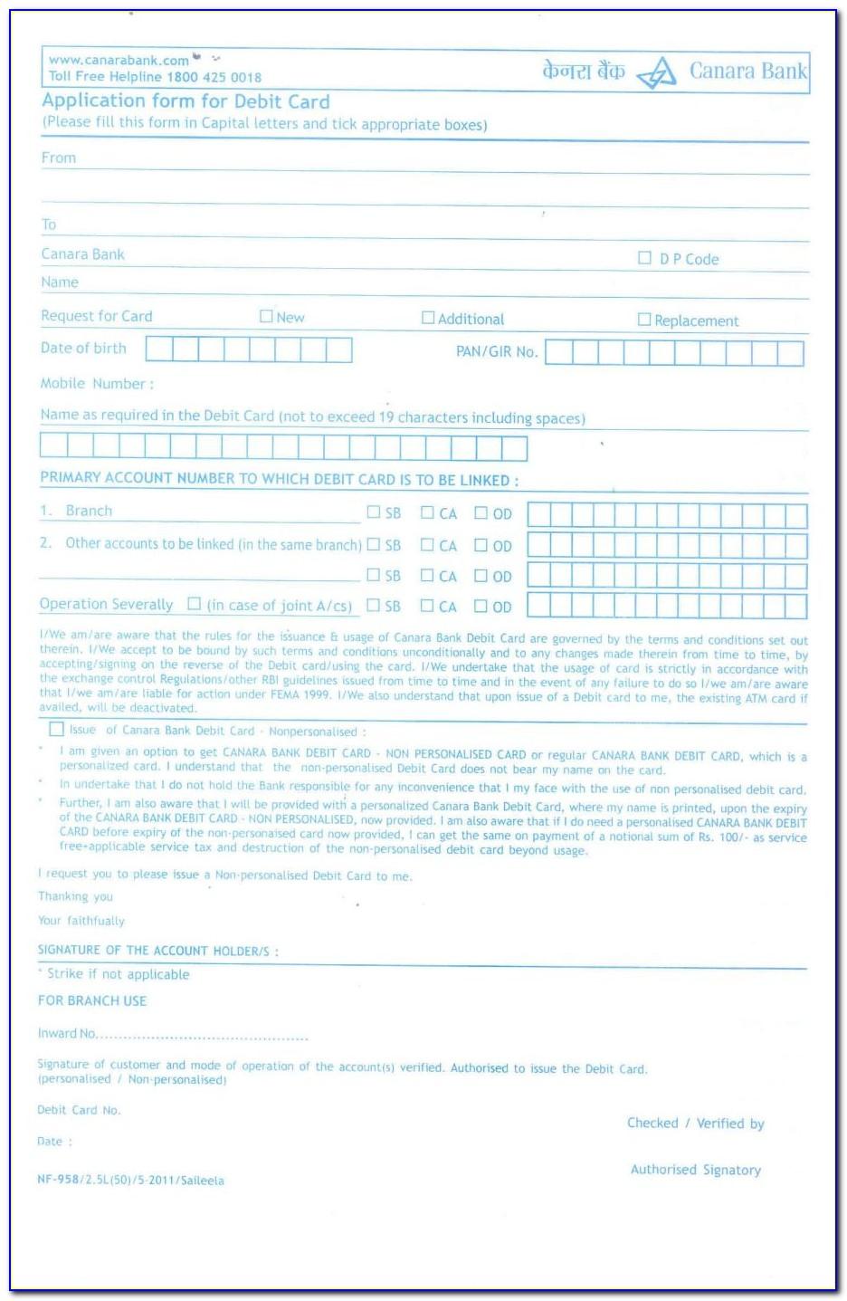 Iob Credit Card Application Form Download