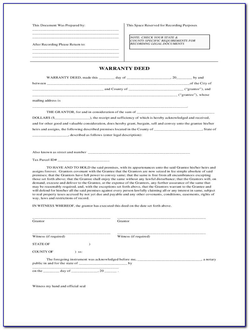 Iowa Warranty Deed Form Free