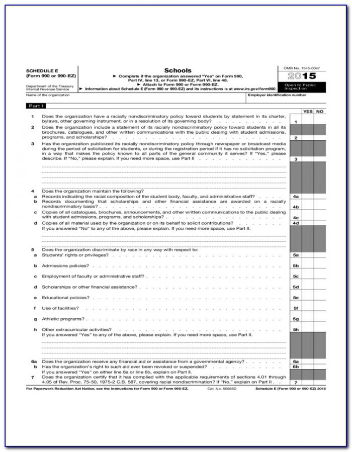 Irs Form 990 Ez Schedule G
