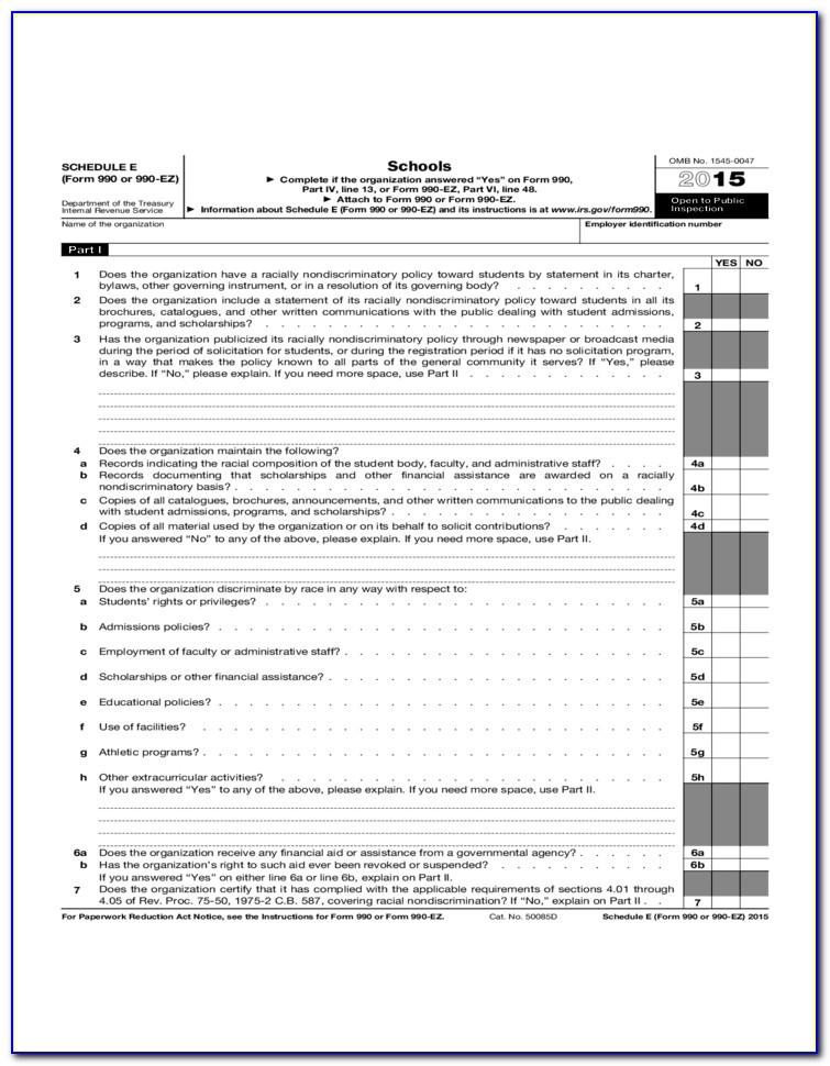 Irs Form 990 Ez Schedule G