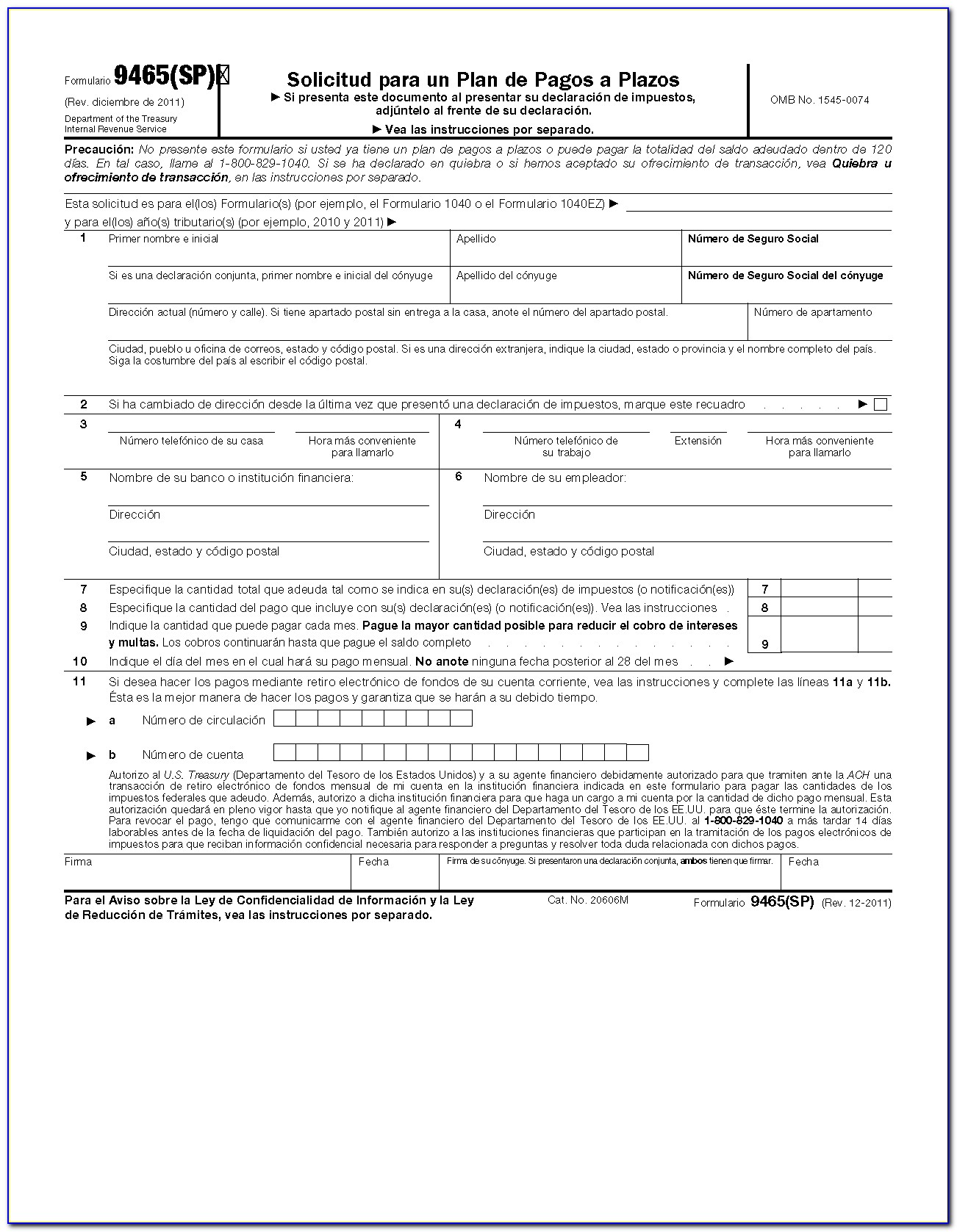 Irs Forms 9465 Installment Agreement Request