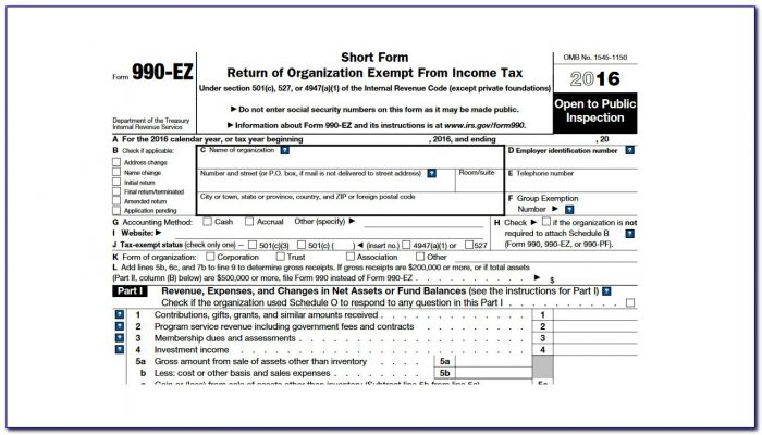 Irs Forms 990 Ez Schedule B