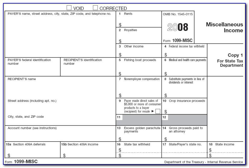 Irs.gov Printable 1099 Form 2017