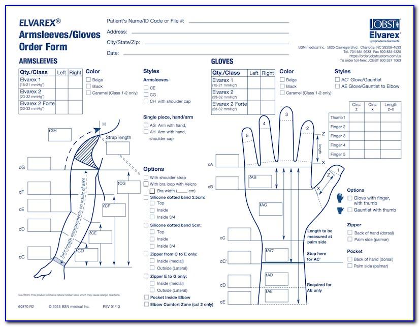 Jobst Custom Elvarex Order Form