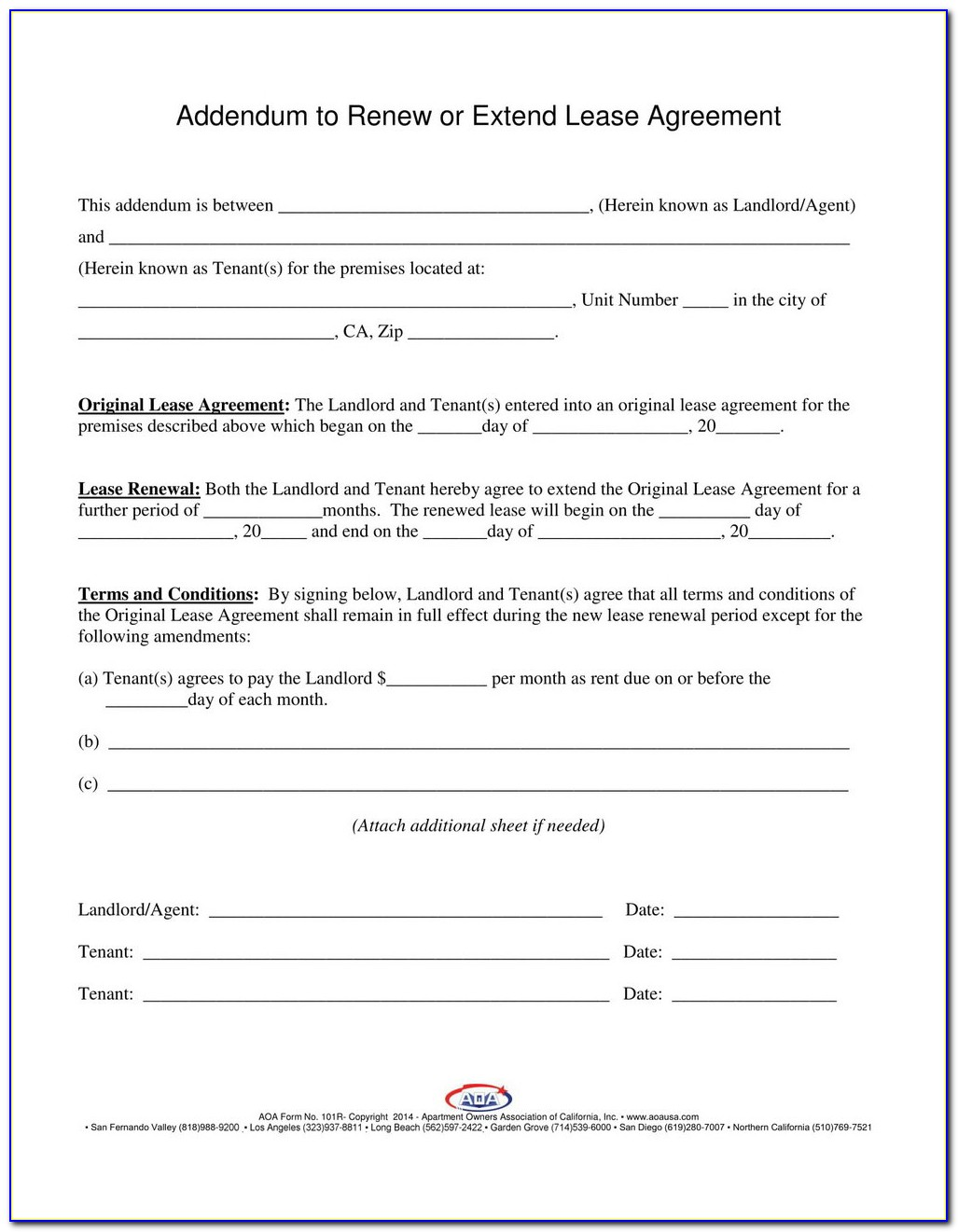 Lease Renewal Form Texas
