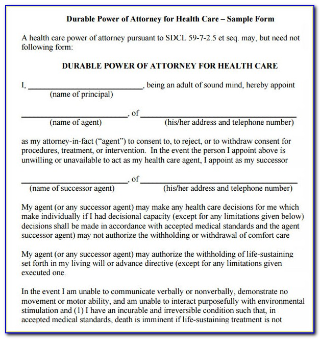 Living Will And Power Of Attorney Forms Texas