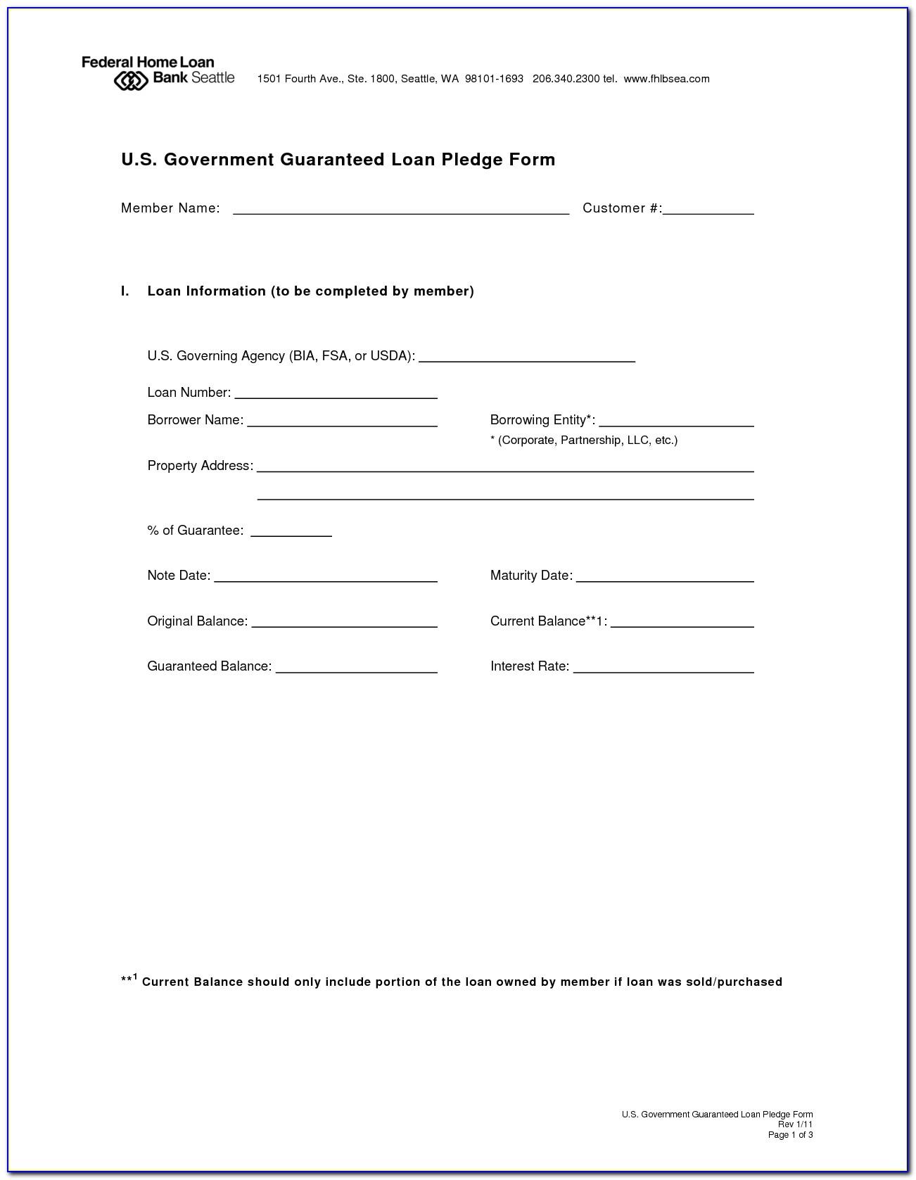Loan Agreement Form Template Pdf