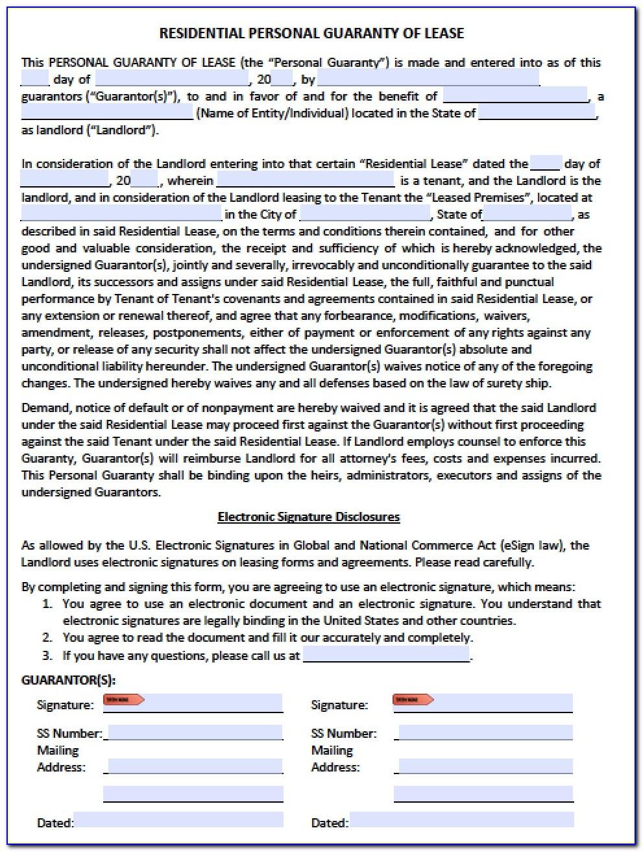 Loan Personal Guarantee Sample