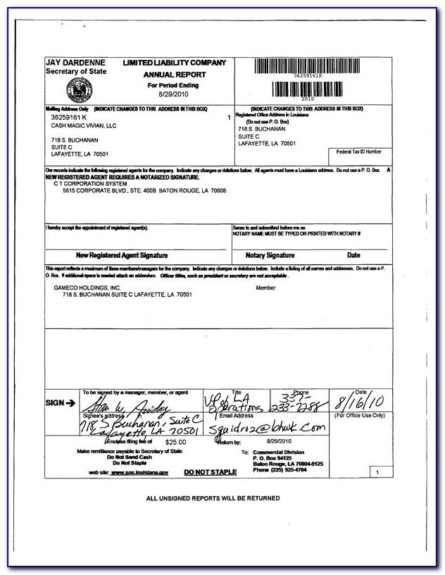 Louisiana Secretary Of State Ucc Forms