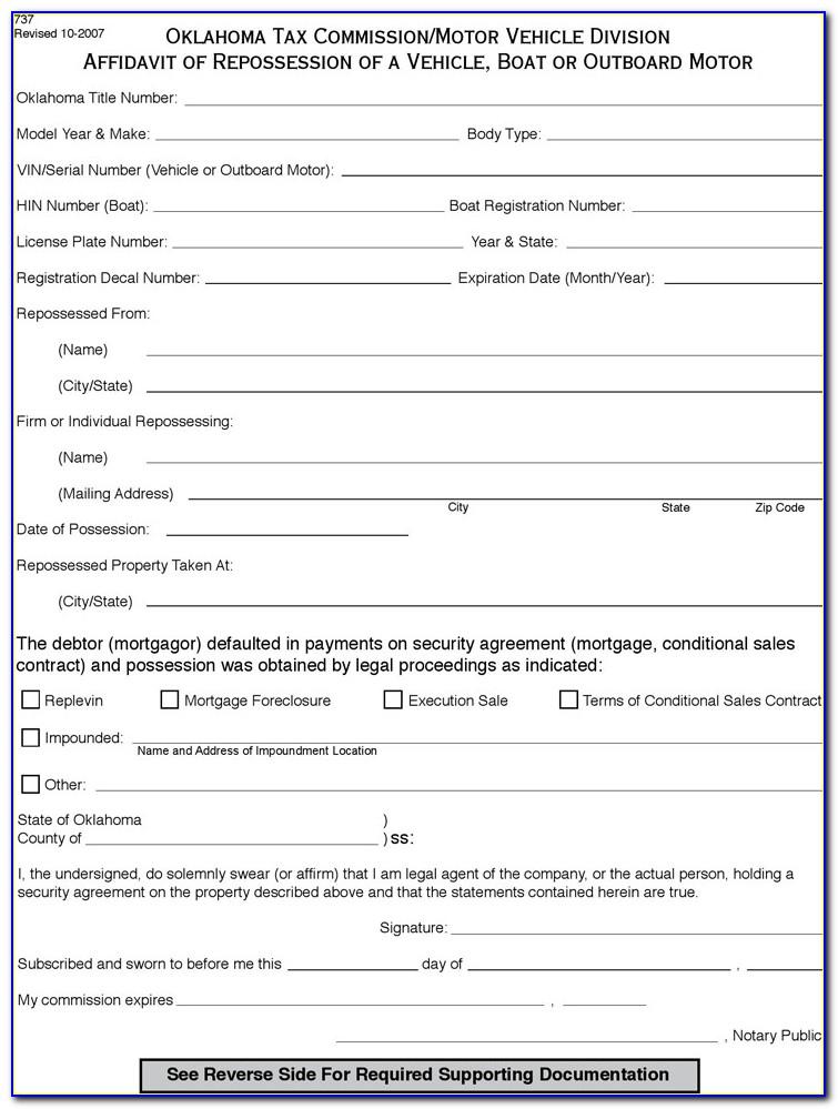 Mechanics Lien Release Form Oklahoma