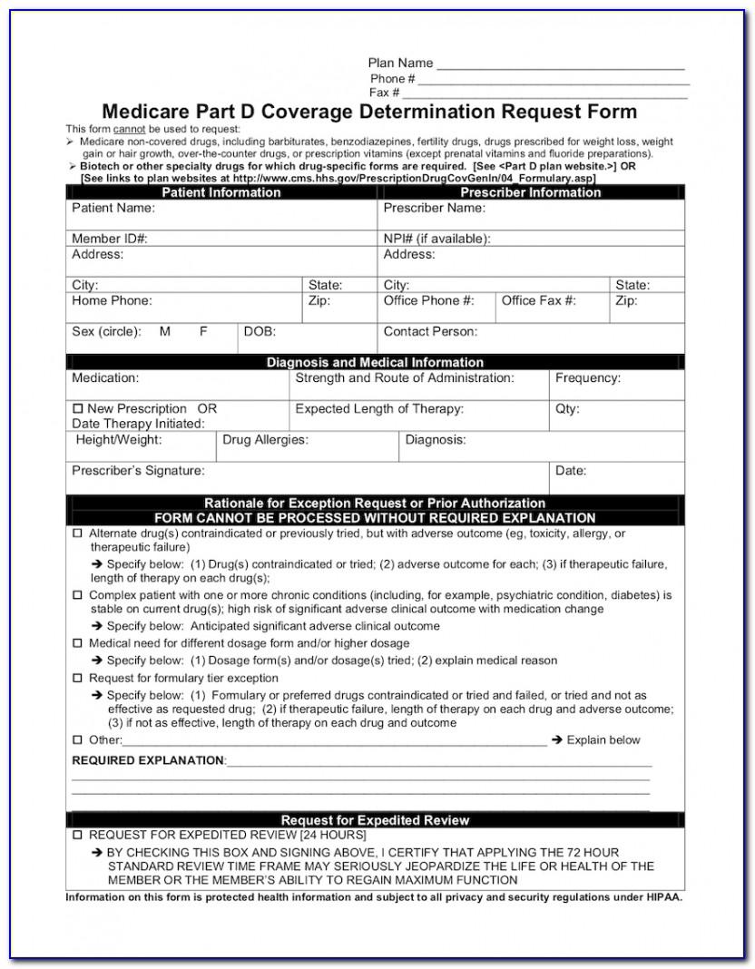 Medicare Advantage Medication Prior Authorization Forms
