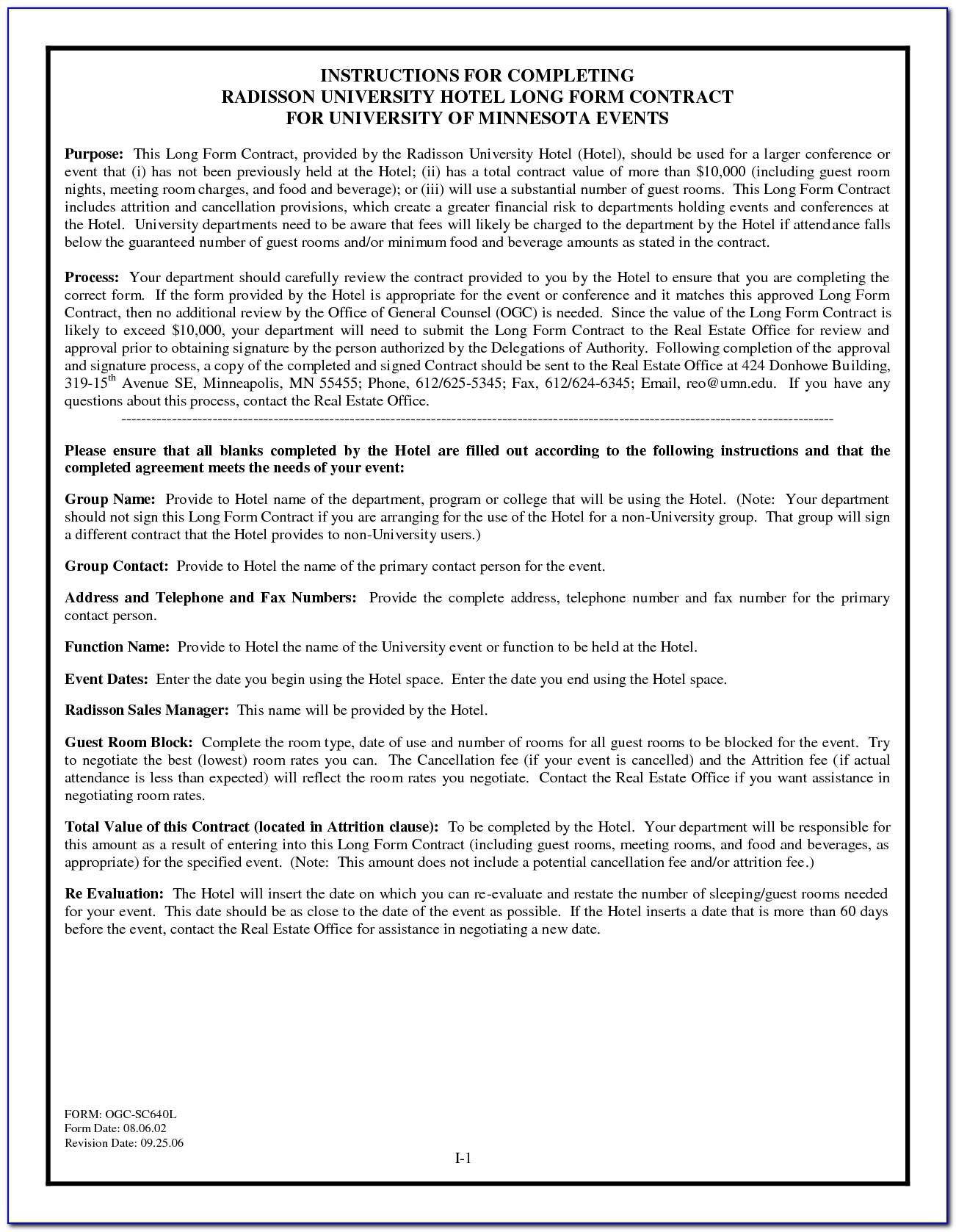 Minnesota Purchase Agreement Form