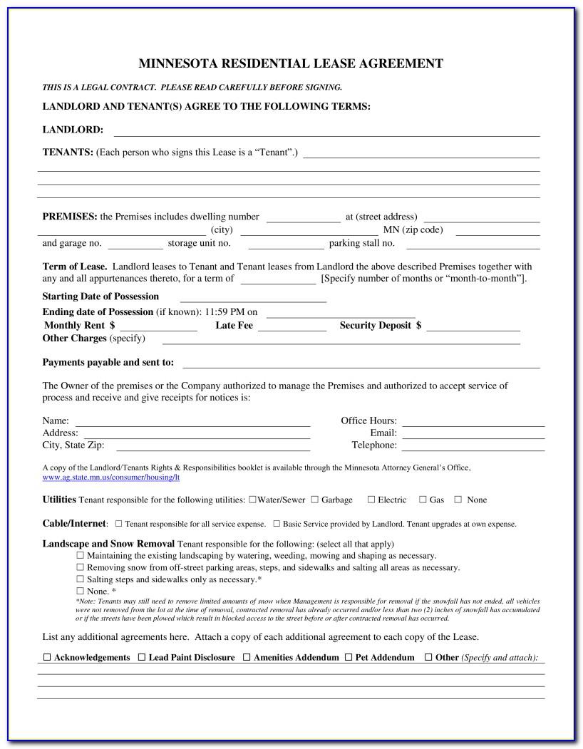 Minnesota Realtor Purchase Agreement Form