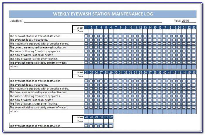 Monthly Eyewash Inspection Form