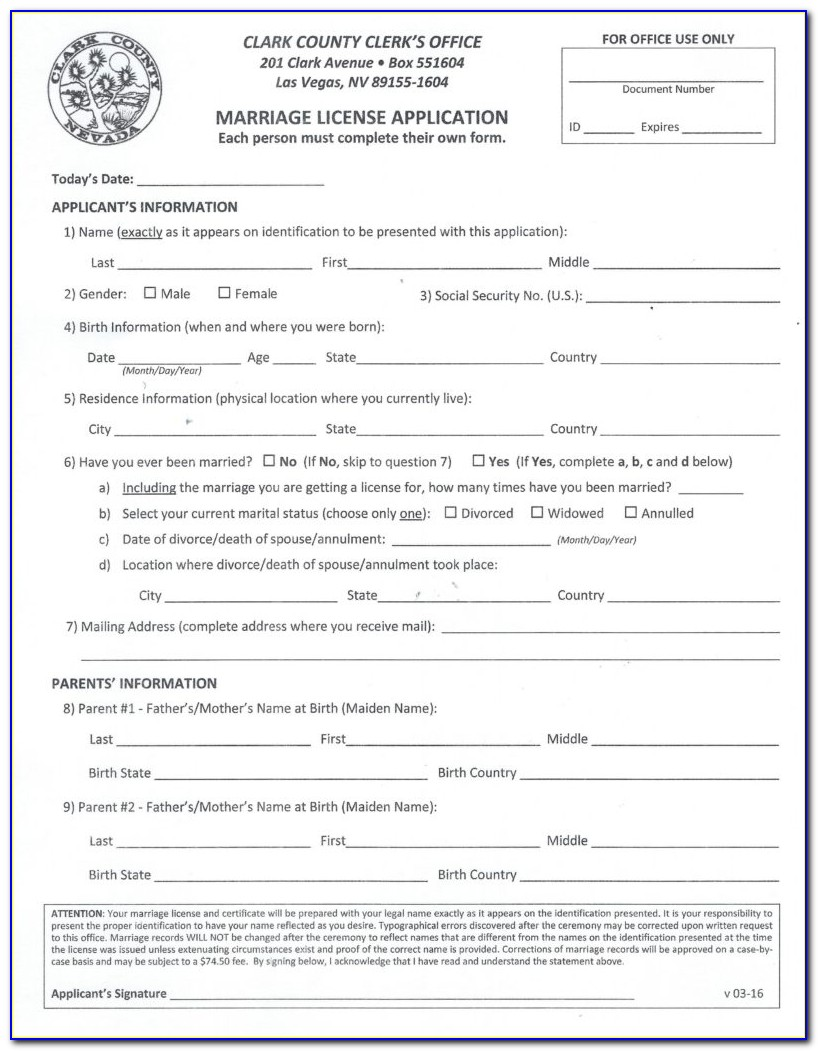 Nevada Annulment Forms Papers