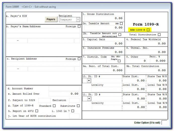 Non Social Security 1099 Form
