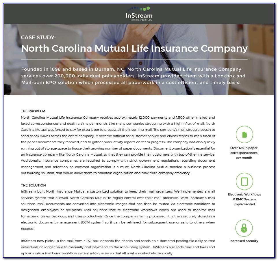North Carolina Mutual Life Insurance Company Claim Form