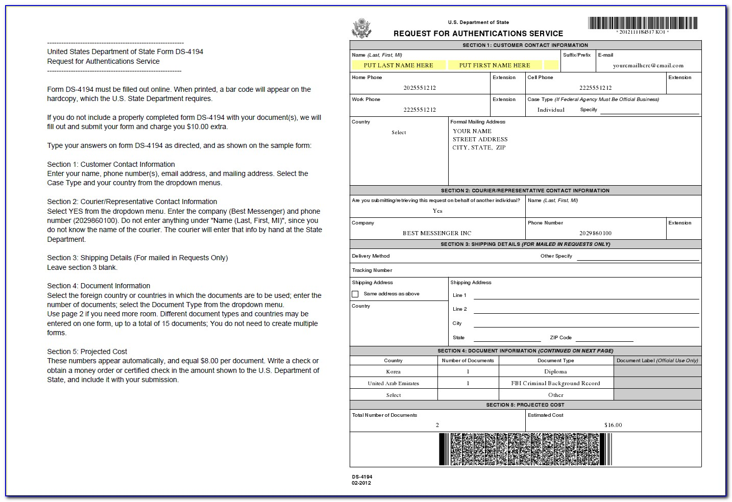 Ny Department Of State Apostille Form