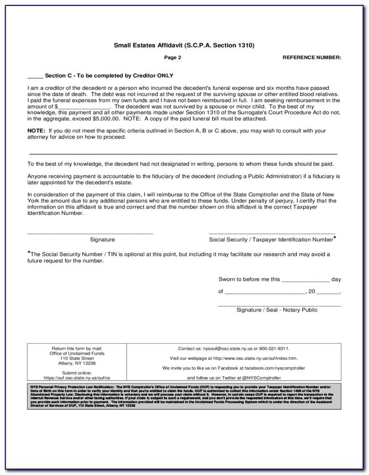 Ny Self Proving Affidavit Form