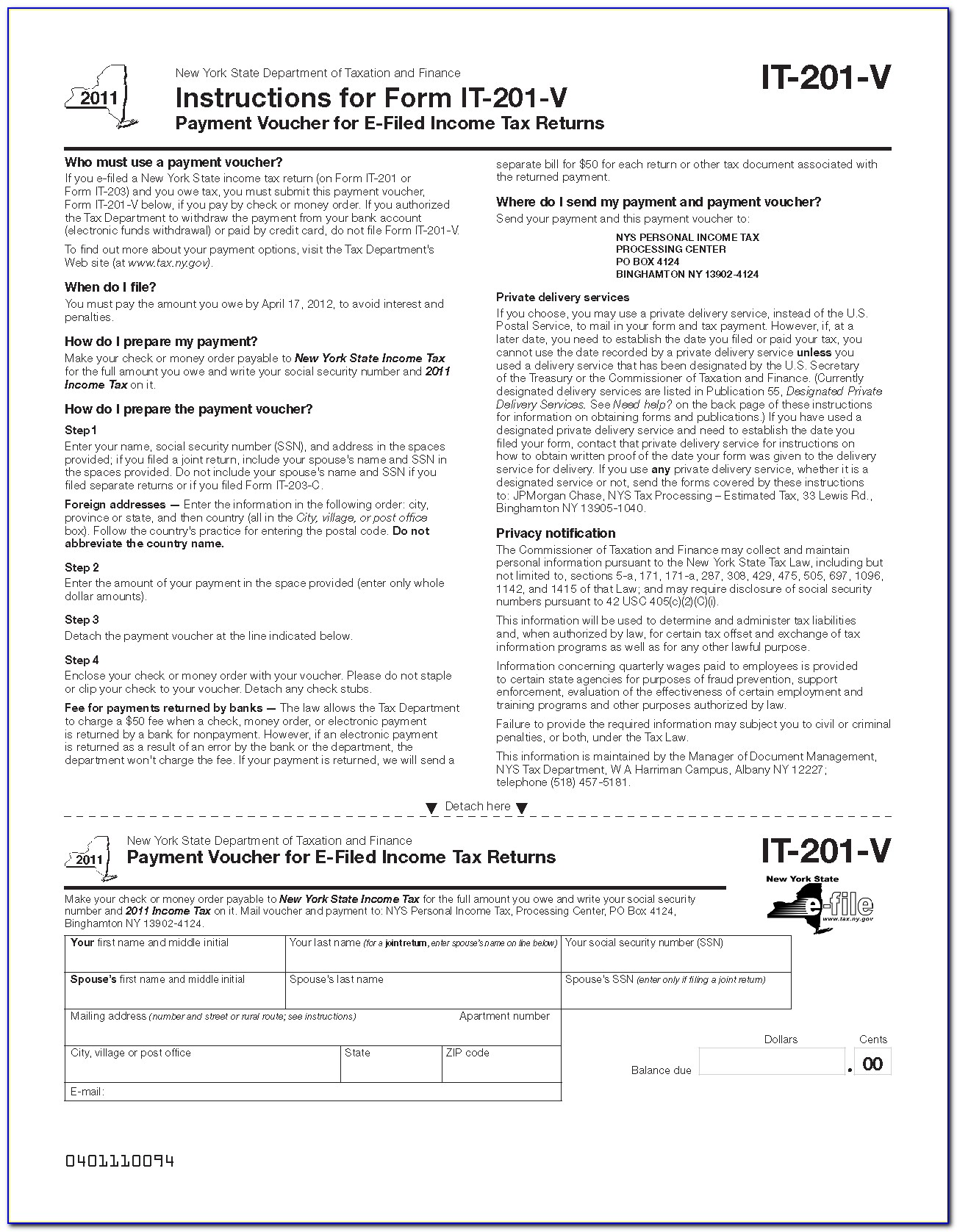 Ny State Tax Form It 201 D