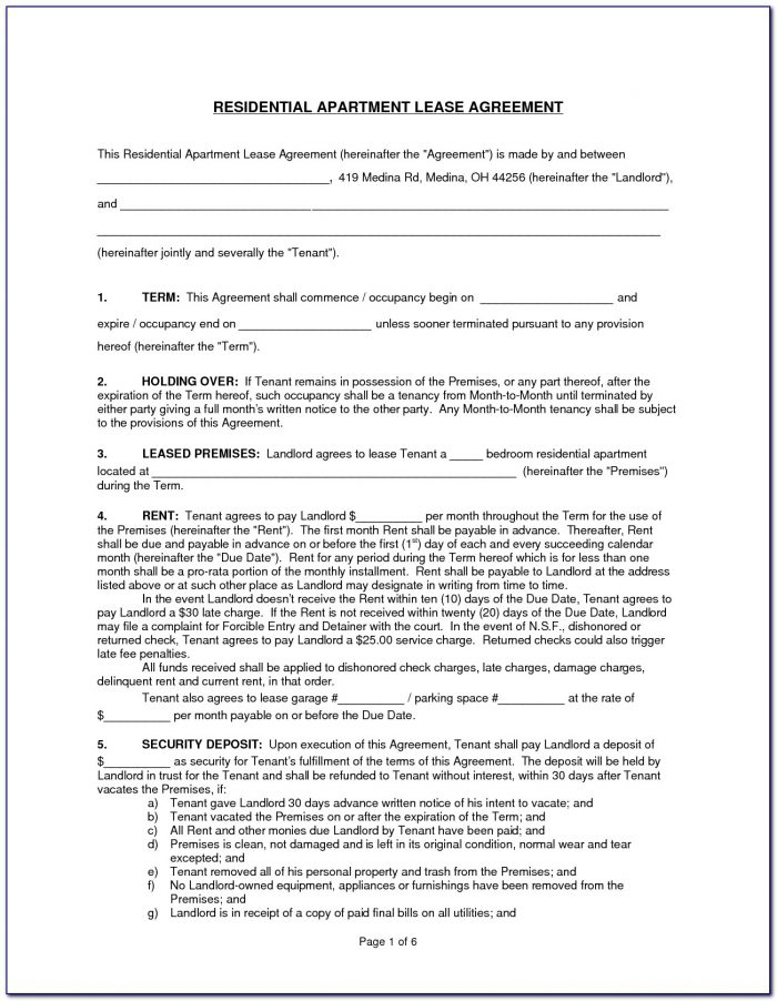 Nyc Apartment Rental Lease Form