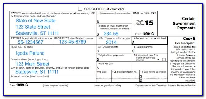 Ohio Form 1099 G