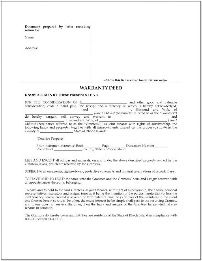 Oklahoma Joint Tenancy Warranty Deed Form