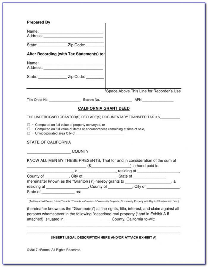 Grant Deed Form California Pdf