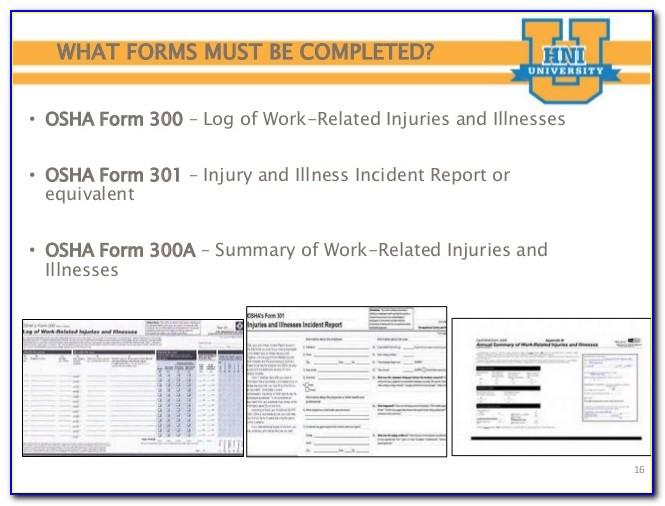 Osha Forms 300 300a And 301