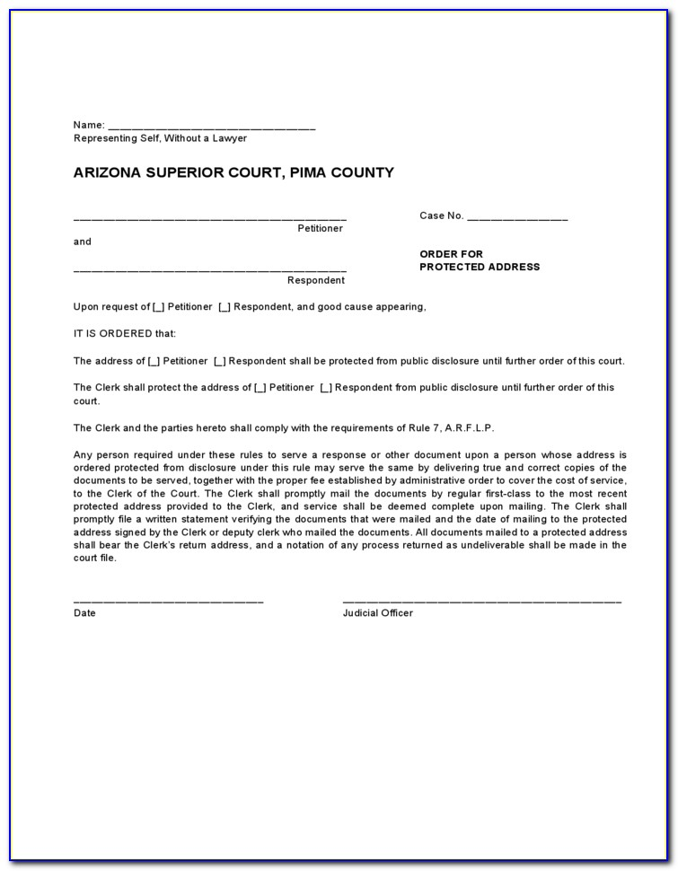 Pima County Court Forms