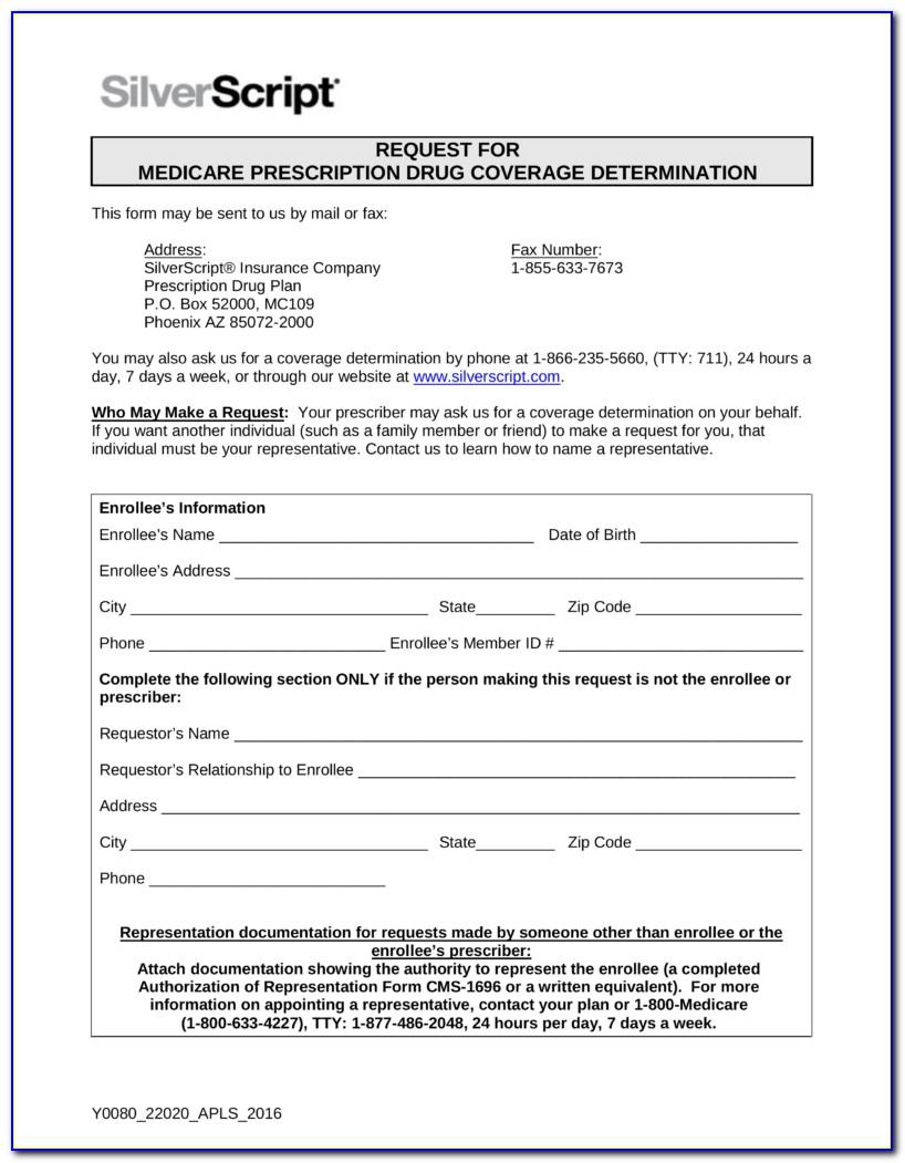 Prescription Solutions Medicare Part D Prior Authorization Fax Form