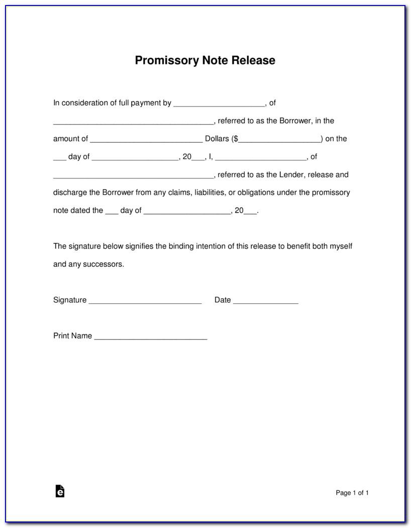 Promissory Note Form Pdf