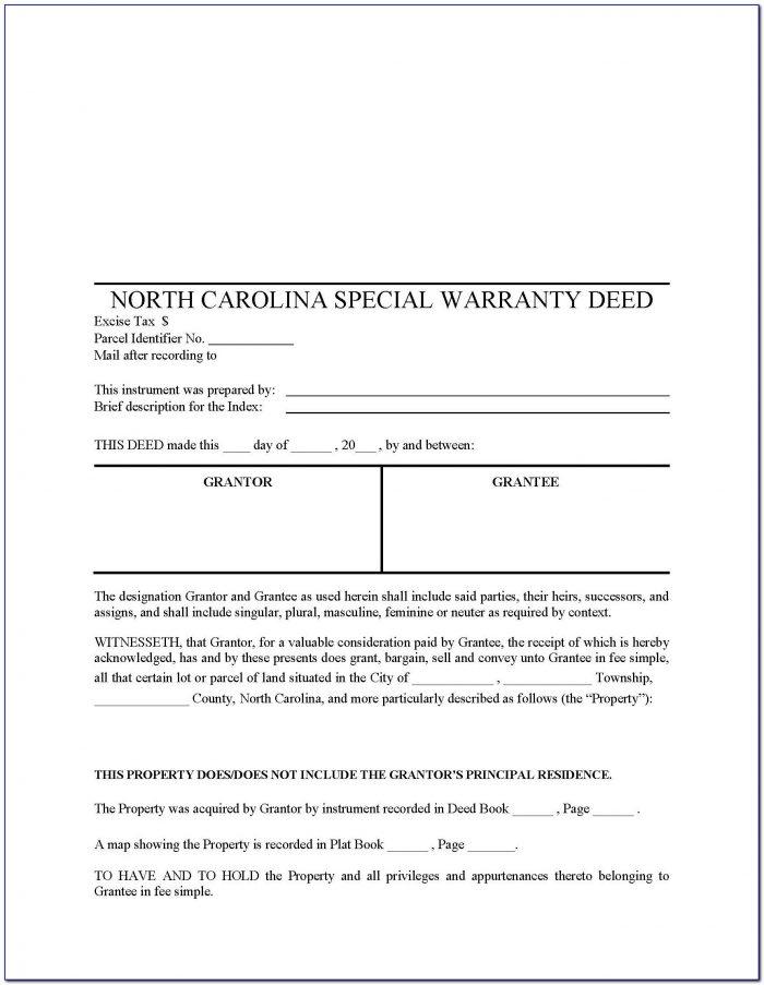 Quit Claim Deed Form Wake County Nc