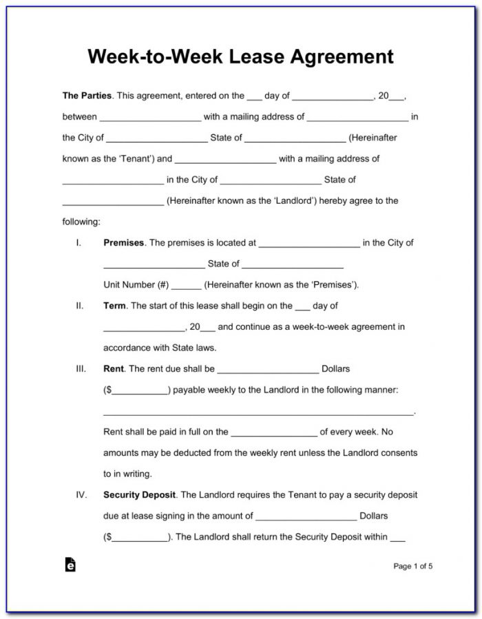 Rental Lease Agreement Forms Free Download