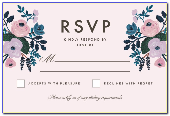 Rsvp Full Form In Wedding Card