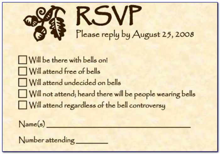 Rsvp Full Form In Wedding Cards