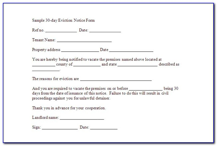 Sample Texas Eviction Notice Form