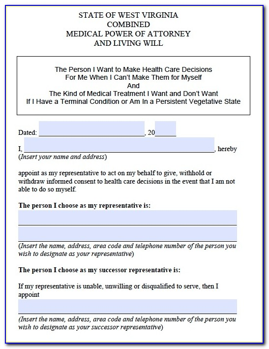Sc Health Care Power Of Attorney Form