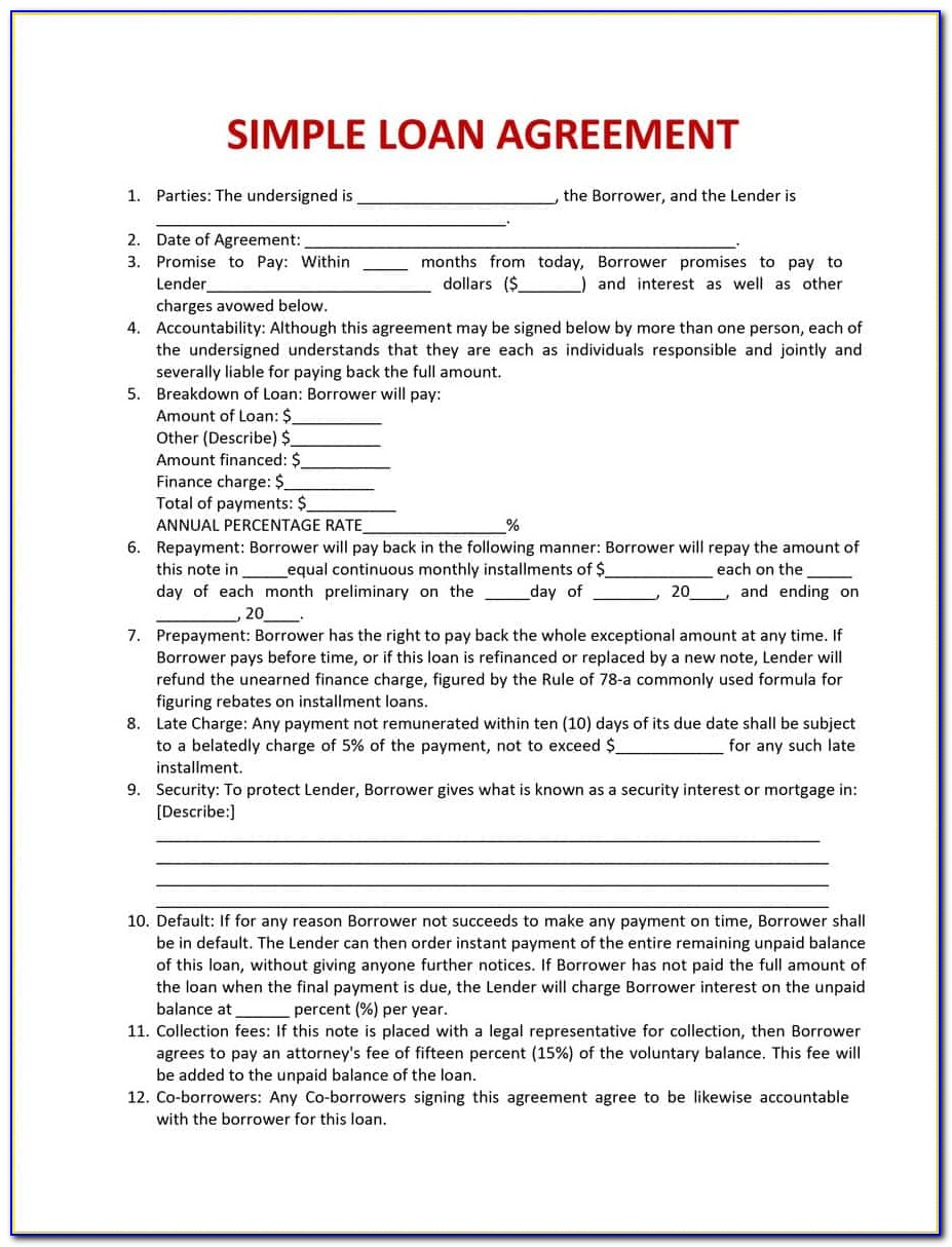 Simple Loan Agreement Form Philippines