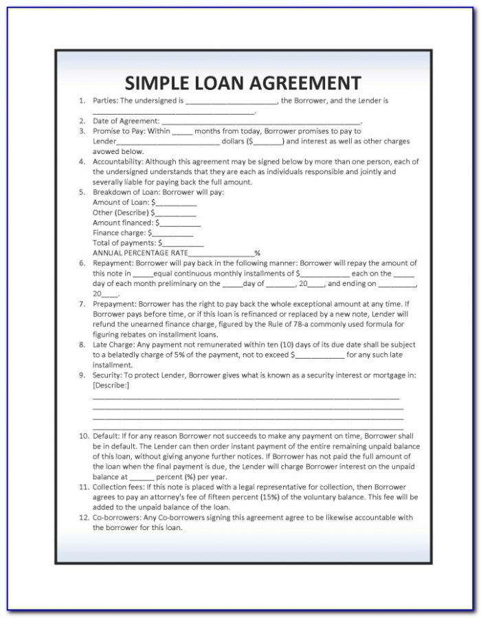 Simple Loan Agreement Format In Hindi Language