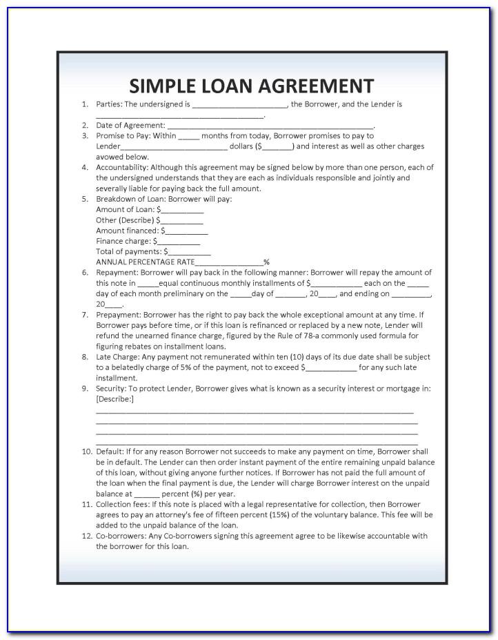 Simple Loan Agreement Format In Hindi Language