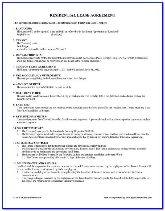 Simple Rent Agreement Format Doc