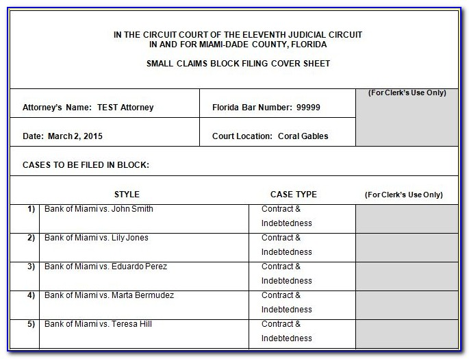 Small Claims Court Florida Forms